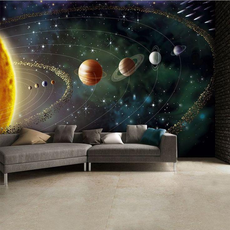 Planety i Słońce Kosmos - fototapeta - 315x232 cm  Gdzie kupić? www.eplakaty.pl