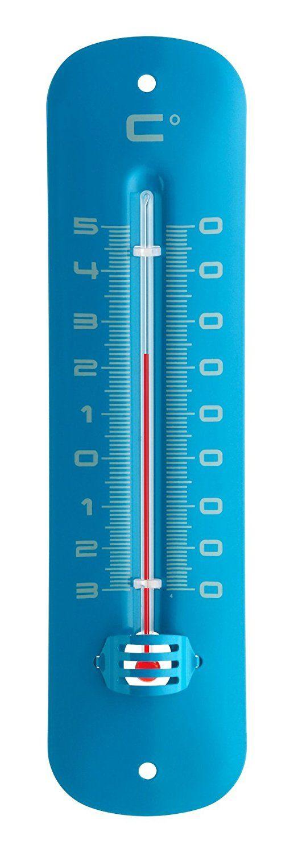 TFA U2013 Inside And Outside Thermometer Blue Metallic