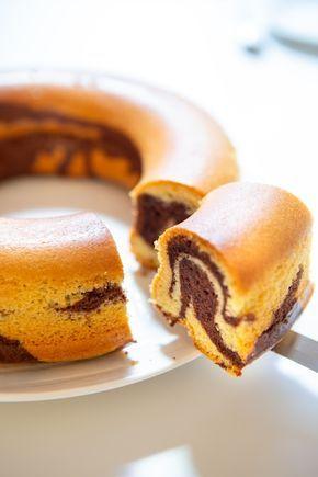 Gâteau mousseline marbré