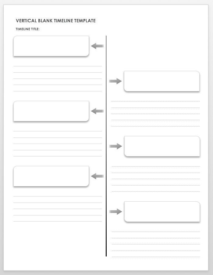 Free Blank Timeline Templates History Timeline Template