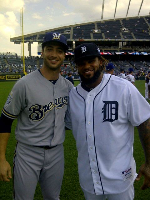#Brewers Braun and #Tigers Prince at the 2012 #ASG in Kansas City!: 2012 Asg, Brewers Packs, Milwauk Brewers, Brewers Games, Kansas Cities, Brewers Baseb, Brewers Braun, Tigers Prince, All Stars