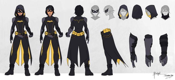Batgirl - Cassandra Cain - Model Sheet by charlestanart.deviantart.com on @DeviantArt