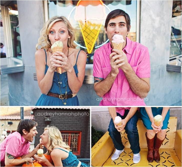 i loooooove ice cream, and i think this would convey the playful and silly nature of us!