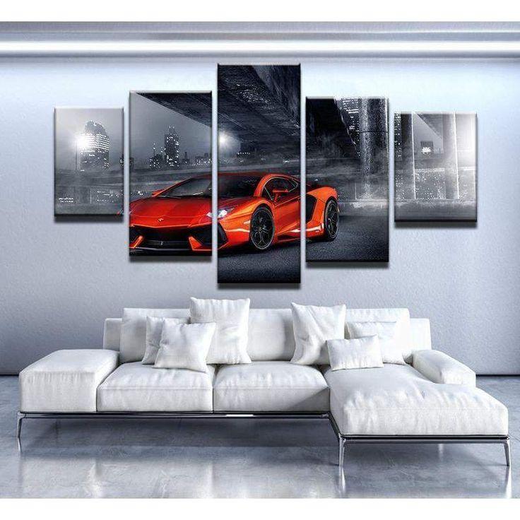 Lamborghini Aventador rotes Auto Leinwand Wandkunst