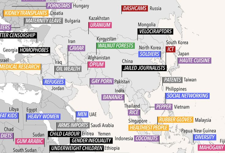 World Map Reveals What Different Countries Are Best At