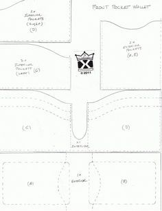 Leather Wallet Patterns Free - Bing Images