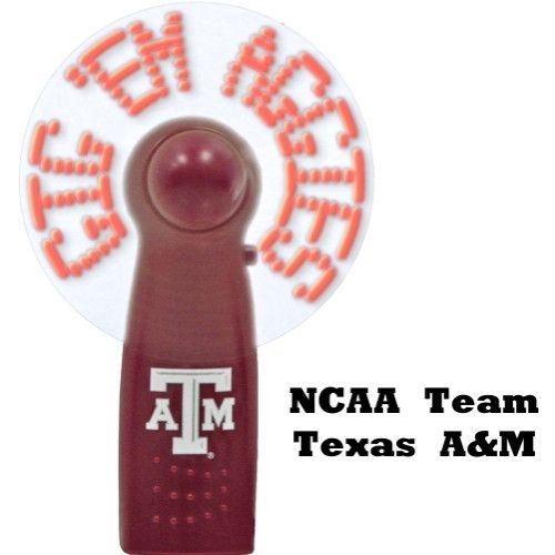NCAA Texas A & M Gig 'Em Aggies Light Up Message Fan (Flashes Team Slogan)