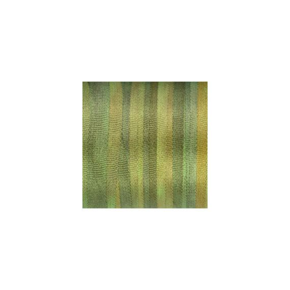"3.28yd Green Lawn Silk Ribbon - 1/8"" (4 mm) wide - Space Dyed"