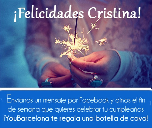 ¡Felicidades Cristina! #YouBarcelona