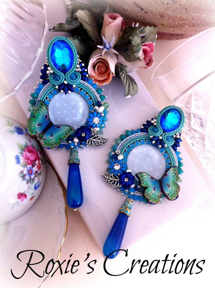 Soutache Earrings, Handmade Earrings, Soutache Jewelry, Handmade from Italy (spedizione in Italia già inclusa nel prezzo!) di LeGioieDiRoxie su Etsy