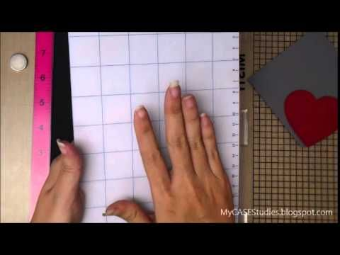 MISTI tip for stamping on odd shaped die cuts using tacky grid by Maureen