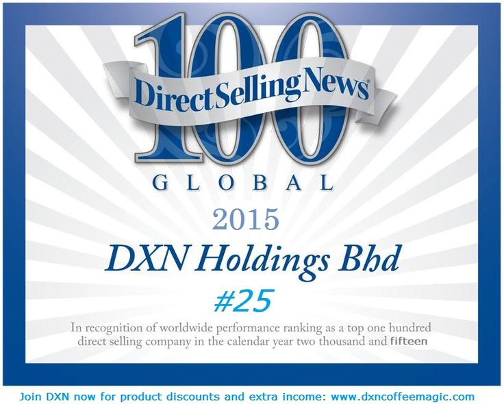 DXN_ranks_twenty_fifth_in_Direct_Selling_News_sixth_annual_survey