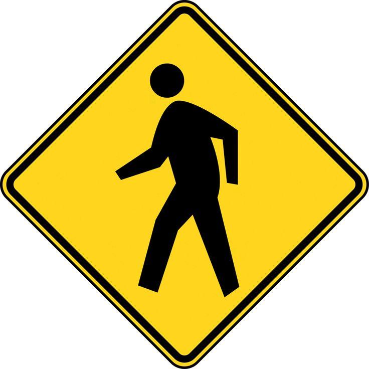 Pedestrian Crossing Color   Clipart Etc
