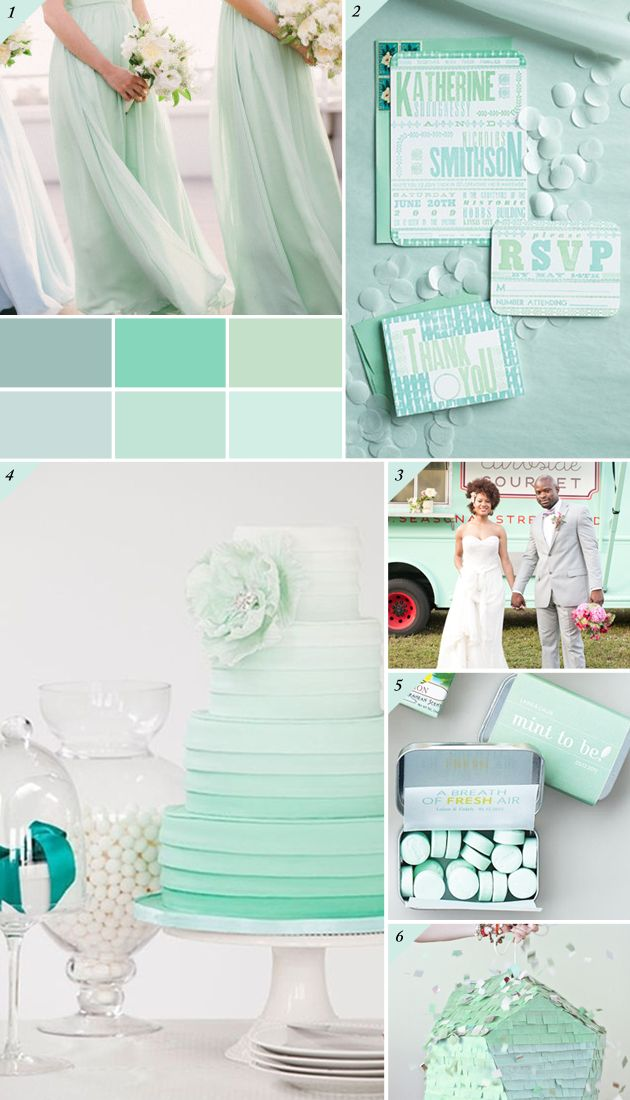 mint wedding inspiration board on Best Day Ever