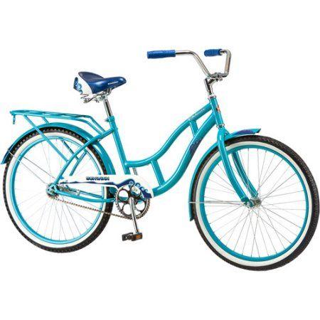 24 inch Schwinn Delmar Girls' Cruiser Bike, Aqua Blue