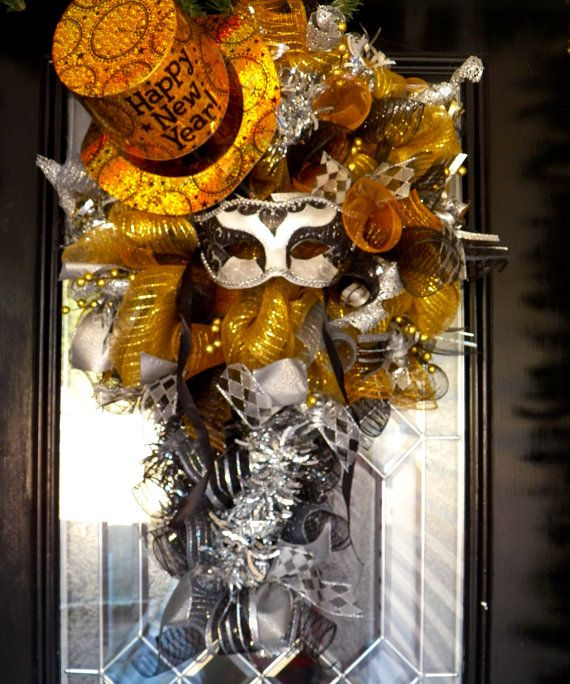 New Year's Party Decoration New Year's Door by OccasionsBoutique