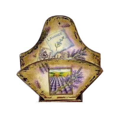 Lawendowy pojemniczek decoupage - Dekoracje - Dekoracje wnętrz