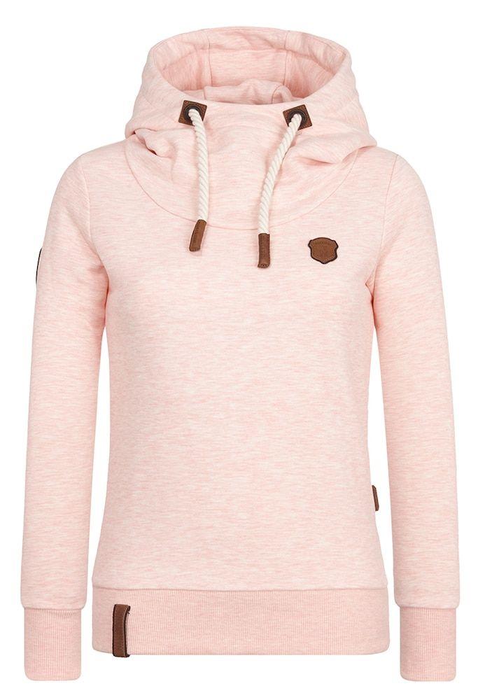 NAKETANO No More Pain Hooded Sweatshirt for Women Pink