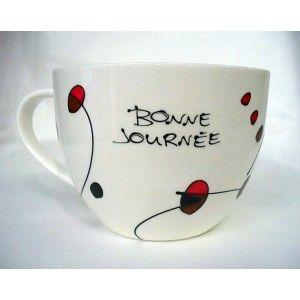 Magnifique bol idéal pour un café ou un chocolat chaud réconfortant!` Disponible en ligne, livraison partout :)
