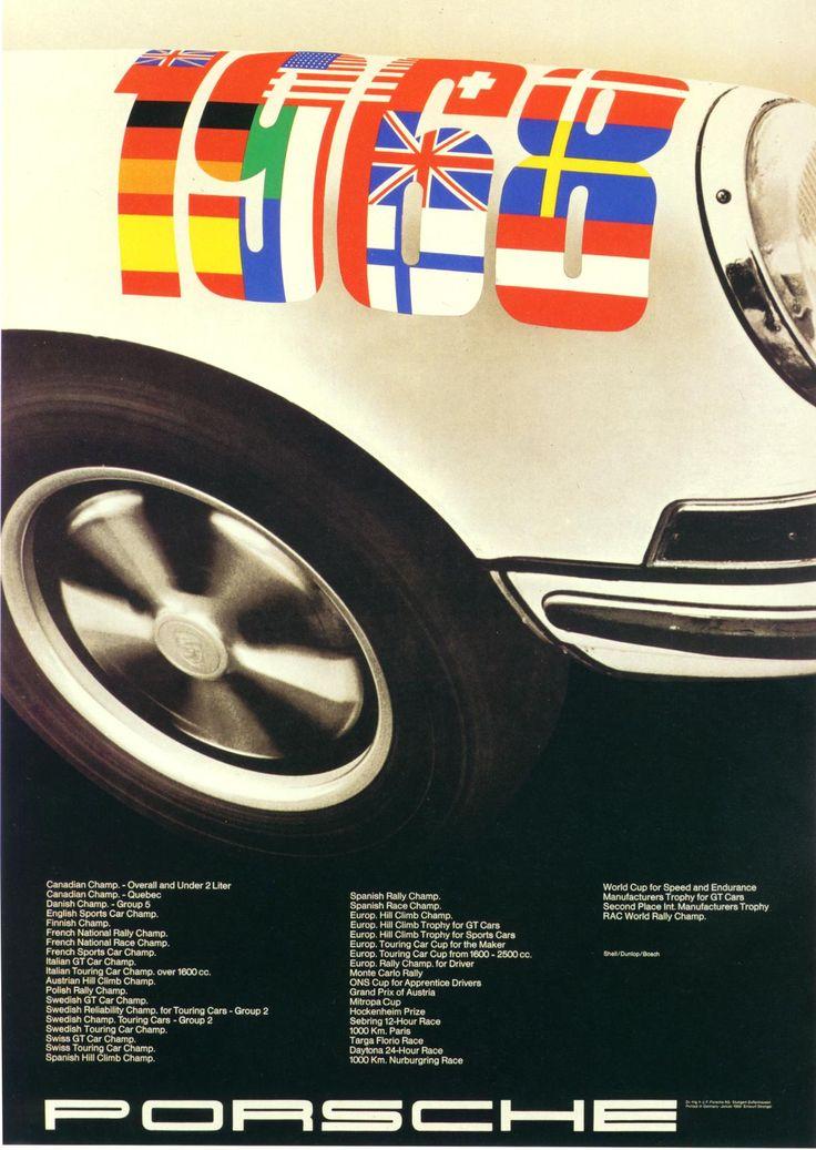 porsche poster - championships 1968