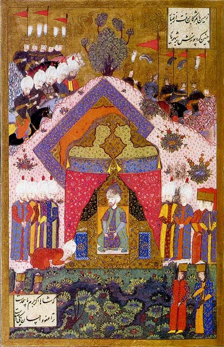 Suleiman the Magnificent receives an Ambassador-by Matrakci Nasuh - Suleiman the Magnificent - Wikipedia, the free encyclopedia