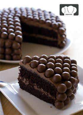 receta de tarta de chocolate y maltesers: