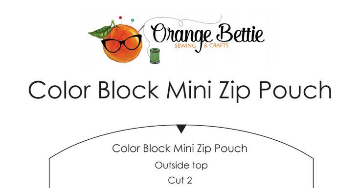 color block mini zip pouch sewing pattern.pdf