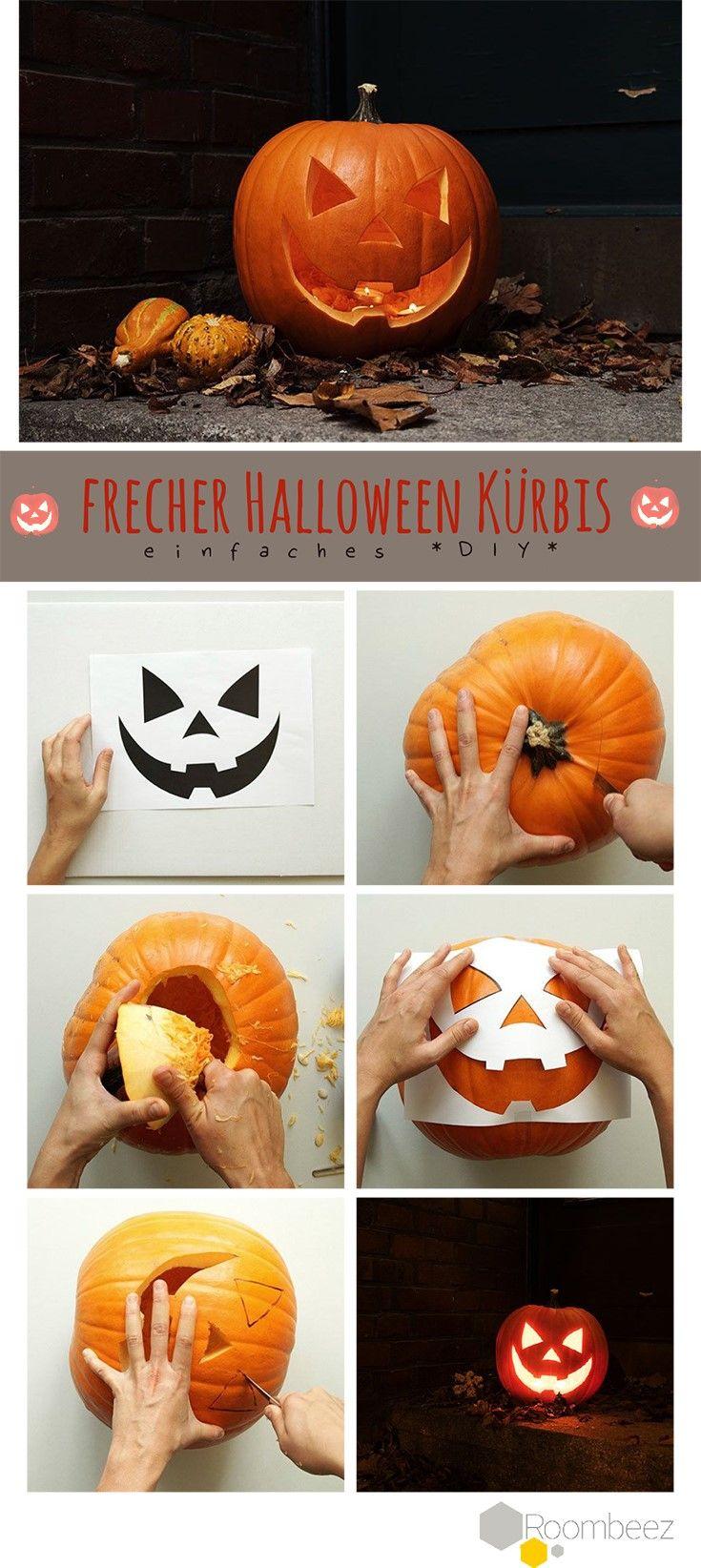 Halloween Kürbis schnitzen DIY Deko An Halloween darf vor allem eines nicht