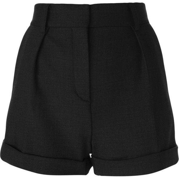 Iro Pleated Shorts (2.650 ARS) ❤ liked on Polyvore featuring shorts, bottoms, grey, grey shorts, pleated shorts, iro shorts and gray shorts