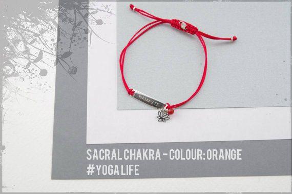 Sterling Silver Sacral Chakra bracelet, yoga bracelet, chakra bracelet, gratitude bracelet,healing bracelet,carnelian, yoga gift, ohm gift