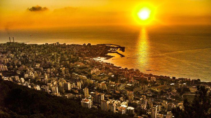 Sunset at Jounieh city , Lebanon