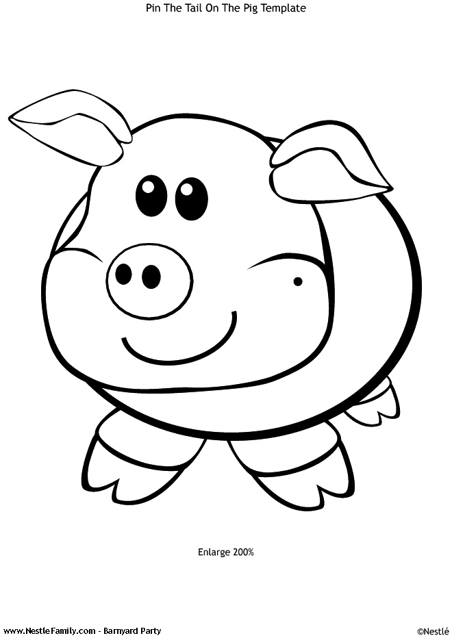Pin the tail on the pig Peppa