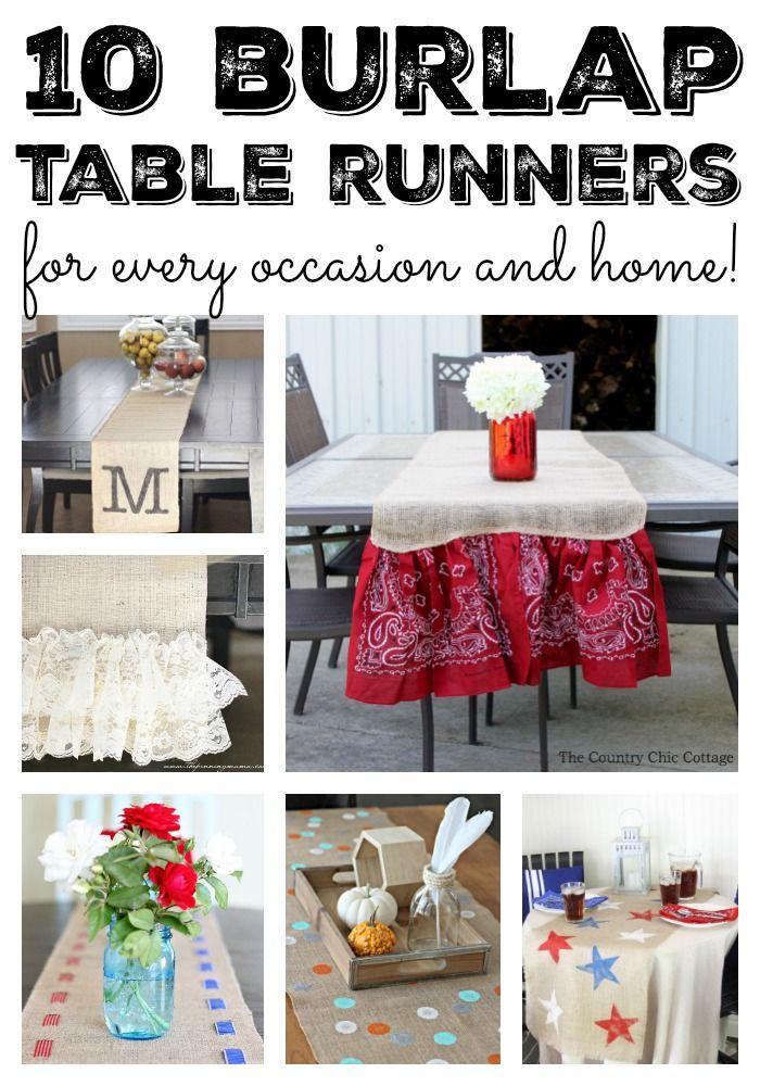 Burlap Table Runners