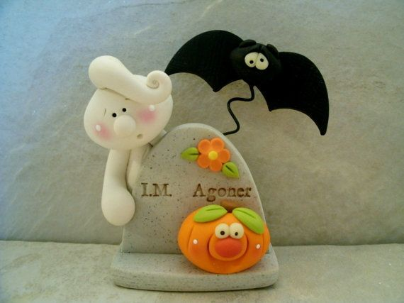 Ghost - Tombstone - Bat - Jack O' Lantern - Halloween Figurine