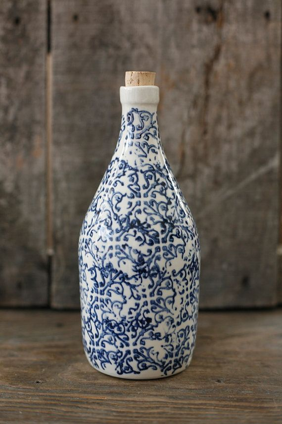 Pour le sirop d'érable - Maple syrup canister - white and blue