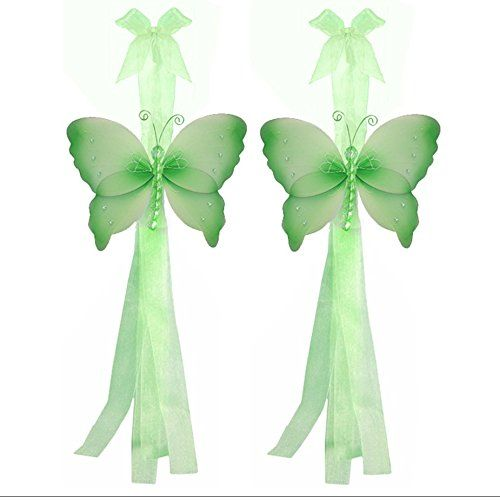 Butterfly Curtain Tiebacks Green Crystal Nylon Butterflies Pair Set Decorations Window Treatment Holdback Sheer Drapes Holder Drapery Tie Back Baby Nursery Bedroom Girl Room Kids Decor Home Bathroom >>> You can find more details by visiting the image link.