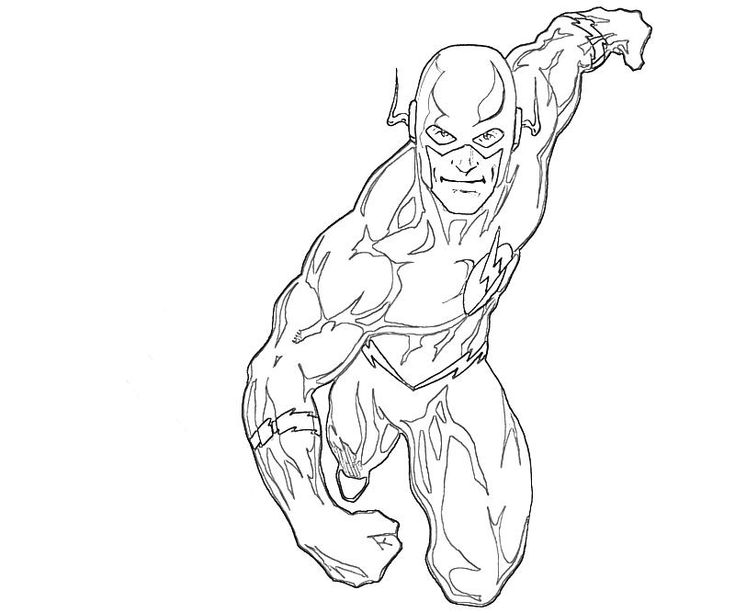 super hero flash colouring pages