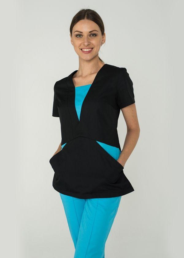 Блуза 1.38/ Дизайнерская медицинская одежда www.lechikrasivo.ru #medicine