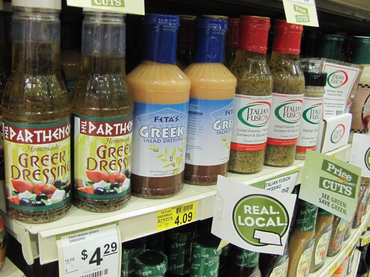 Local Greek dressing, including the delicious Parthenon Restaurant's dressing!