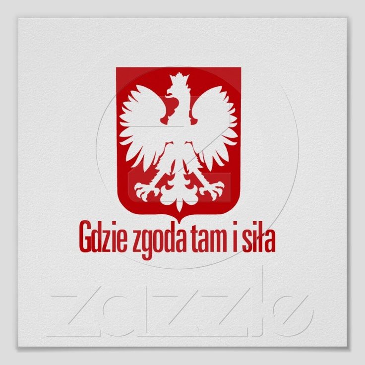 """Gdzie zgoda, tam i siła"" is a Polish Proverb that means ""With unity, there is strength""."