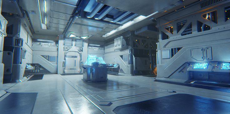 ArtStation - Sci Fi Room, Mick Jundt