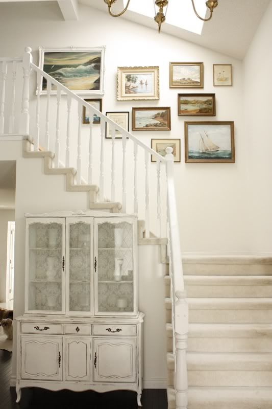 photos of the sea for open staircases.