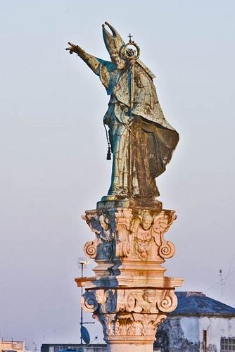 Lecce, Sant'Oronzo di mattina