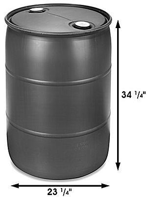 Plastic Drum - 55 Gallon, Closed Top S-10757 - Uline