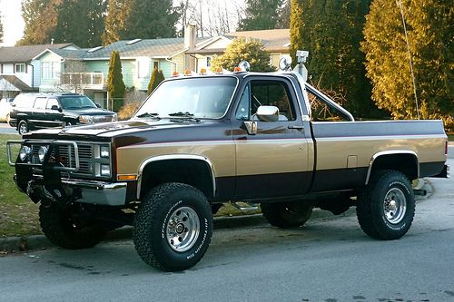 Fall Guy- Colt Seavers 1980's GMC pickup- 6-inch lift, 35-inch Dick Cepek tires on 16-inch chrome.  Loved this truck.