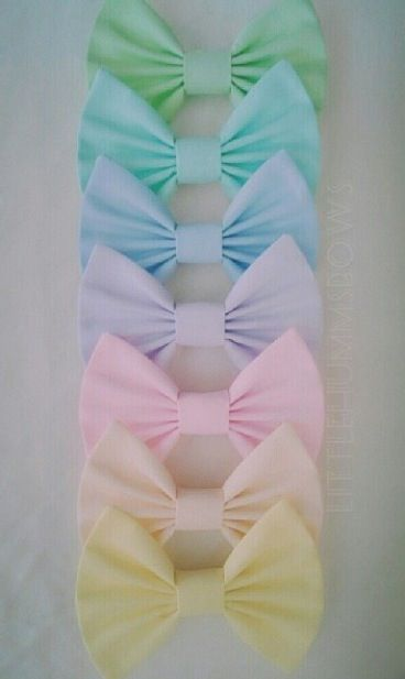 Pastel bows are the best bows.