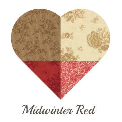 Yosonline Quiltstof / Quilt Fabric - Midwinter Red