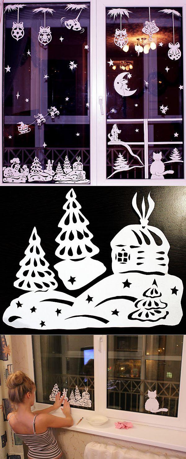 Новогодние киригами_3_воплощенные идеи. | Новый год и Рождество (идеи и красота)