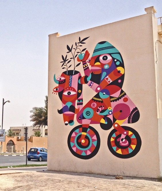 Spain based street artist Ruben Sanchez has a peculiar artistic style.  His work can be found internationally (his latest, the top photograph, created in Dubai).  However, his home of Spain can be ...