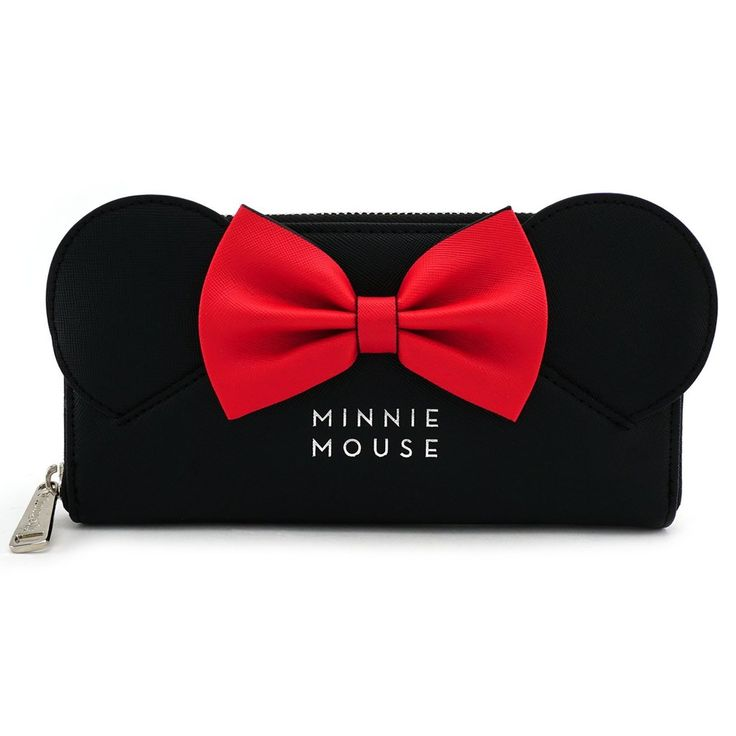 Loungefly Disney Classic Minnie Mouse Ears Red Bow Deluxe Black Wallet – moodswingsonthenet